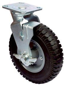 As rodas do caster sólido de PU preto
