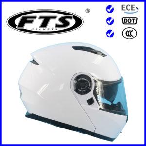 Accesorios de moto casco modular ABS Protector de seguridad de toda la cara de la mitad, plegable, con un punto y certificados de la CEPE Visera Pinlock disponibles