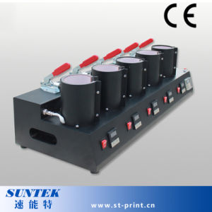 Combo 5 в 1 кружка тепло нажмите кнопку с сублимацией бумаги