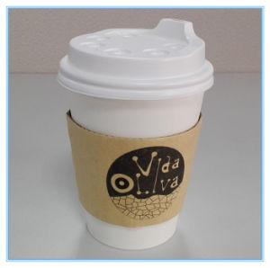12oz 16oz бумаги кофейные чашки с крышками и втулки