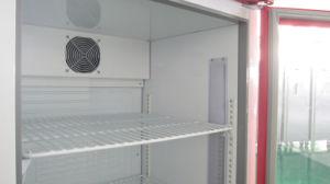 Verticale Ventilator die Facultatieve koelen de Koelende Showcase van de Deur van het Glas (dbq-318L)
