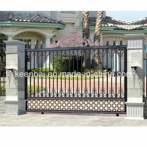 Cancello di giardino scorrevole esterno moderno decorativo della fusion d'alluminio