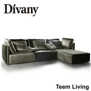 Divany Sofá de cuero de alta calidad D-36