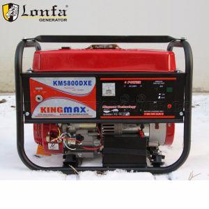 Nuevo diseño del bastidor de alta Kingmax 5800dxe generadores de gasolina para Giunee