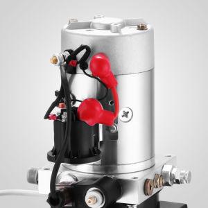 Bomba hidráulica de acción simple Volcado de 12V Tráiler -4 Quart depósito de metal para remolque basculante