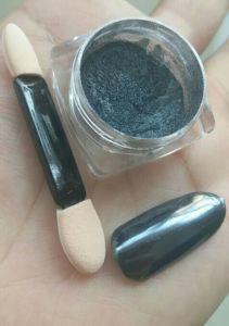 黒色火薬のきらめきのクロムカラーIbnミラーのゲルの釘のクロム魔法の粉ミラーの粉
