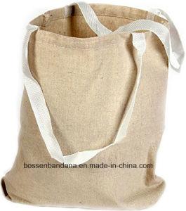 El producto de la fábrica de China modificó el bolso de compras para requisitos particulares impreso insignia del totalizador de la lona del algodón