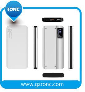 Batería móvil 10000mAh de la potencia del cargador sin hilos con la carga sin hilos de Qi
