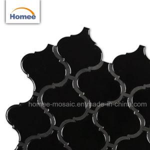 Nuevo diseño Decoaration brillante negro Mosaico arabescos mosaico Linterna