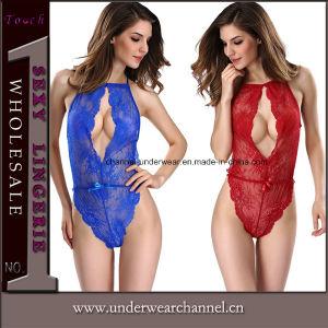 Diseño personalizado transparente vestir sexy Teddy encajes ropa interior (TFQQ1079)