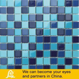 수영풀을%s 6mm 크래커 디자인 파란 세라믹 모자이크