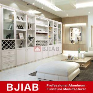 El Roble Blanco Metal moderno mobiliario de Casa Vino Gabinete de aluminio