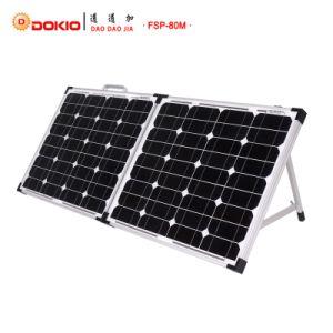 80W Monocrystalline Складная солнечная панель для 12В постоянного тока системы