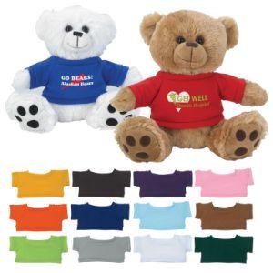 새로운 로고에 의하여 주문을 받아서 만들어지는 장난감 곰 승진 견면 벨벳 장난감