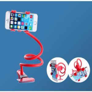360回転適用範囲が広く長いアームクリップ式の不精な立場の電話ブラケットの電話ホールダー