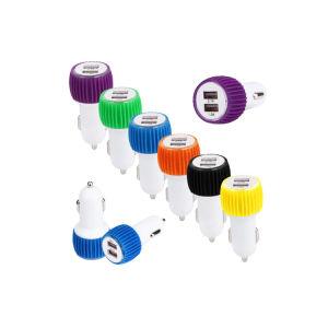 Портативные цветные 5V 1A два порта USB автомобильное зарядное устройство для мобильных телефонов