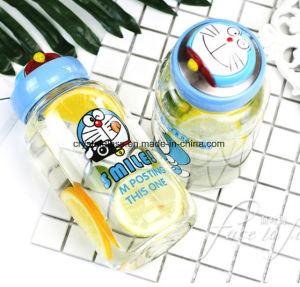 Karikatur-Glasflaschen-umweltfreundliche Wasser-Flasche für Kinder