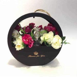 Настраиваемые формы горячей штамповки картон серый закрывается цветочный подарок бумаги в салоне с помощью рукоятки
