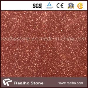 Prix bon marché rouge tuile de revêtement de sol en pierre de terrazzo