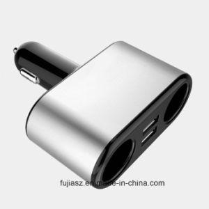 Accesorios de coche cargador adaptador de corriente del interruptor de 12-24V Divisor de 2 vías, toma de mechero de coche con dos puertos USB