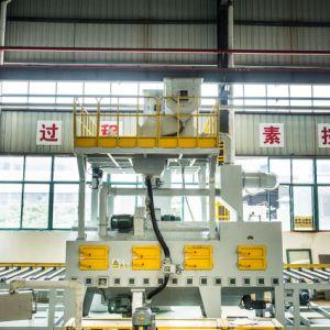 강철 플레이트 표면 청소에 사용되는 Mayflay 회분식 탄 폭파 기계