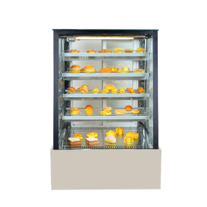 Exibir armário frigorífico vitrina de bolos com vidro Trapezoidal
