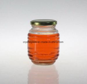 Des Honig-350ml mit Schutzkappe anpassen Glasnahrungsmittelglas