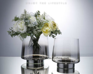 Gris anthracite Vase de la rampe de gradient Accueil Accessoires
