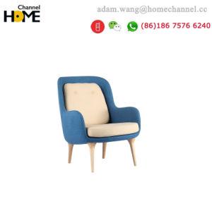 ファブリック新式の簡単な木足の居間の余暇の椅子Yj065