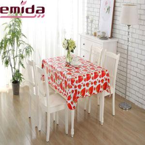 Nuevo Venta caliente aceptar el orden personalizado resistente al agua Fruit Strawberry Mantel PVC Impresión