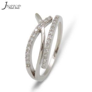 高品質のカスタム水晶結婚指輪のファッション小物
