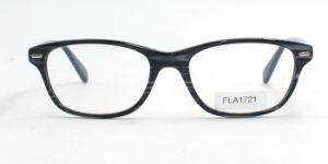 Het in het groot Optische Frame Van uitstekende kwaliteit van Eyewear van het Frame van de Acetaat Volledige (FLA1721)