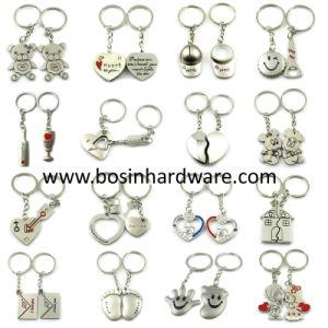 Cuore in bianco Keychain del magnete del metallo