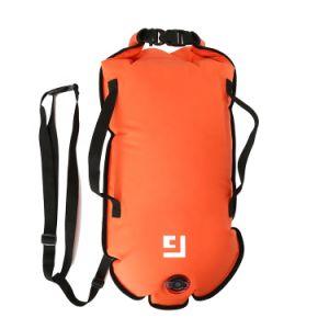 Custom de PVC inflable Boya de aguas abiertas natación segura seco flotante Mochila bolsa