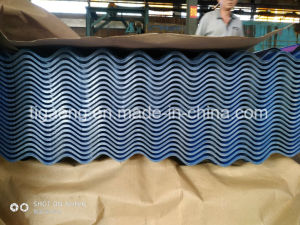 Couleur PPGI ondulé en acier recouvert de tôle de toit