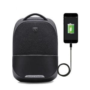 OEM Junyuan moda los viajes de ocio Sport Mochila cargador USB portátil bolsa para ordenador