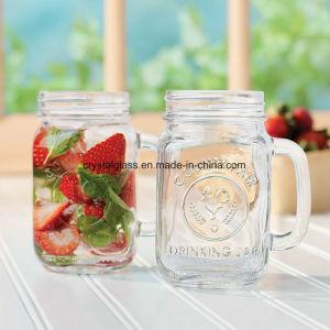 Het Drinken van het glas Tuimelschakelaar met Deksel, de Duidelijke Kruik van de Metselaar van het Glas