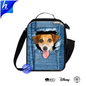 Conteneur de Zipper déjeuner chien sac à lunch isolés de conception en denim refroidisseur