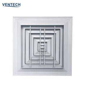 Leverancier van China van de Verspreider van de Lucht van de Verspreider van het Plafond van de Levering HVAC de Vierkante