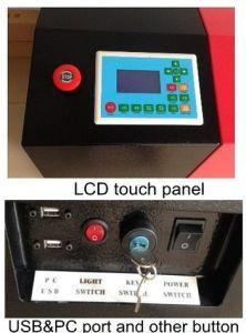 9060 strumentazione di cuoio/plastica/documento/di gomma/organica del laser di vetro di taglio