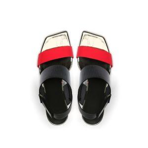 Hot vendre Square Toe Fashion Design Mesdames sandales pour femmes