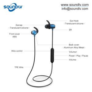 磁気無線ヘッドホーンの金属はBluetoothのヘッドセットの耳のイヤホーンを遊ばす
