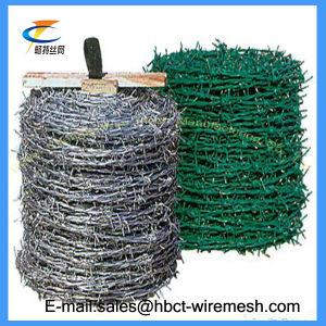 電流を通されるまたは塀のためのPVC上塗を施してある有刺鉄線熱い販売
