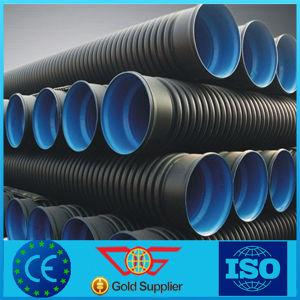 Sn8 Dn200-800 grandes de plástico de HDPE Tubería de drenaje tubo corrugado