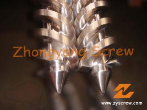 45/90 y el cilindro de doble husillo cónico para tubo de PVC de la extrusora