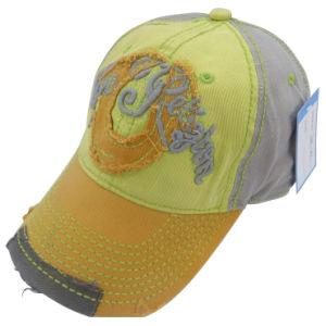 Design personalizado Boné lavados com couro Applique Gjwd1715