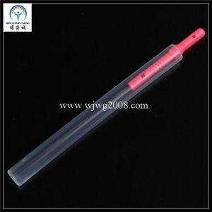 Aiguille en plastique rouge 0.16X30mm avec tube de guidage