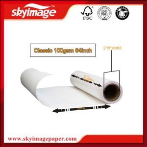 Commercio all'ingrosso del documento di rullo di sublimazione di alto tasso di trasferimento 100GSM per il panno della fibra, le tazze di ceramica ed i piatti