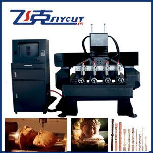 8 Jefes 4 Ejes Rotary grabado en madera/Router CNC máquina
