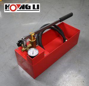 Het Testen van de Druk van de hand Pomp met 12L de Tank van het Staal (hsy30-5)